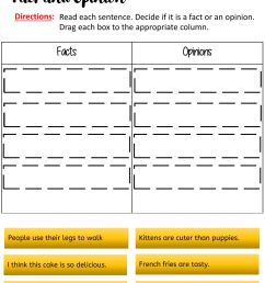 Facts and opinions worksheet [ 1443 x 1000 Pixel ]