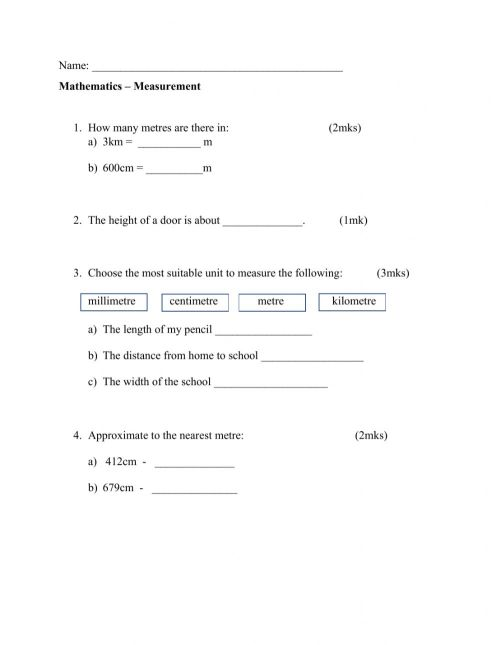 small resolution of Measurement online exercise for Grade 3