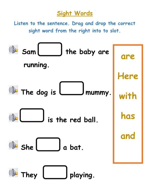 small resolution of Sight Words worksheet for Grade 3