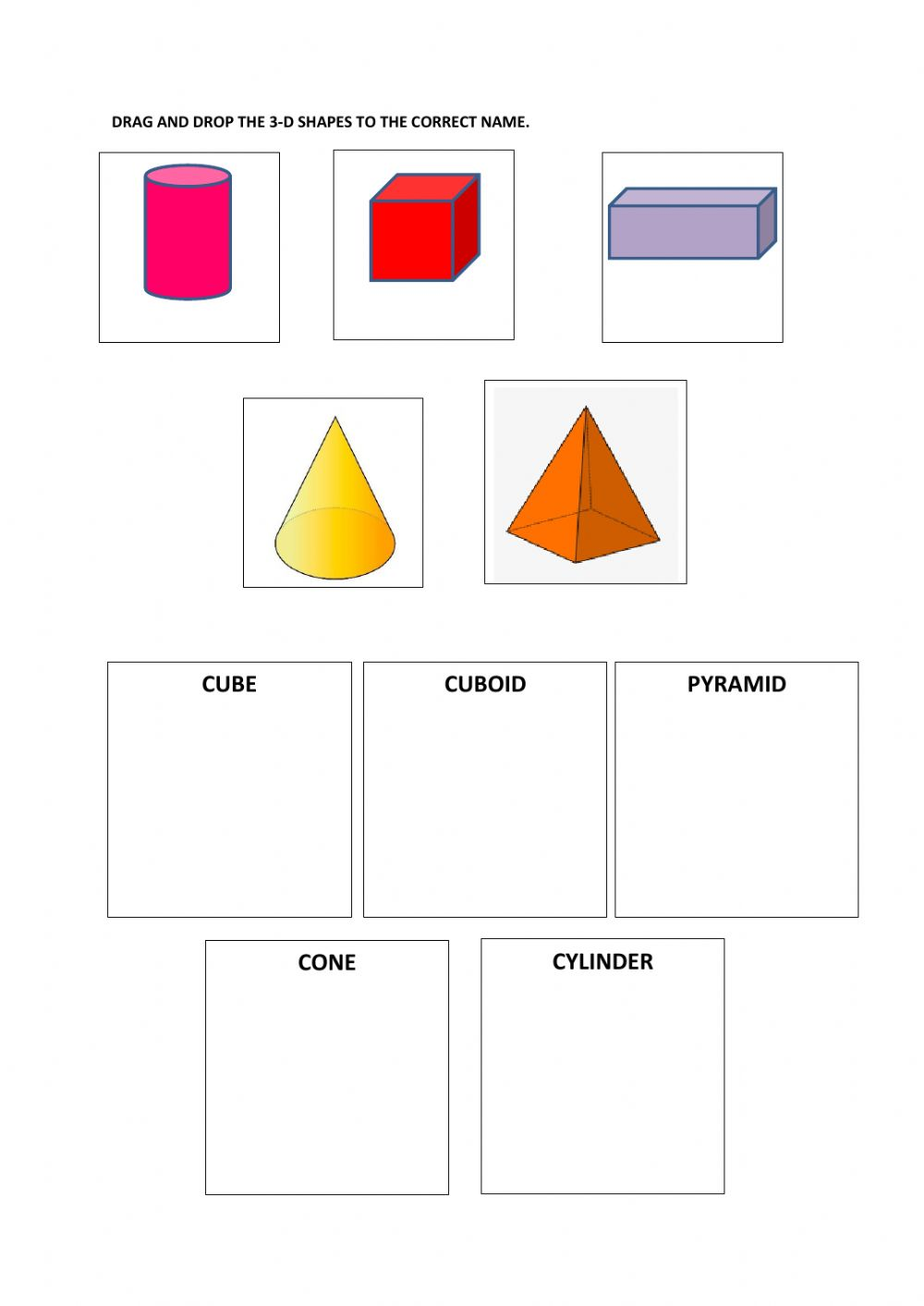 hight resolution of Shapes online exercise for GRADE 2