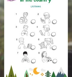 Explorers Level 3 Unit 1 Adapted Listening: In the country worksheet [ 1414 x 1000 Pixel ]