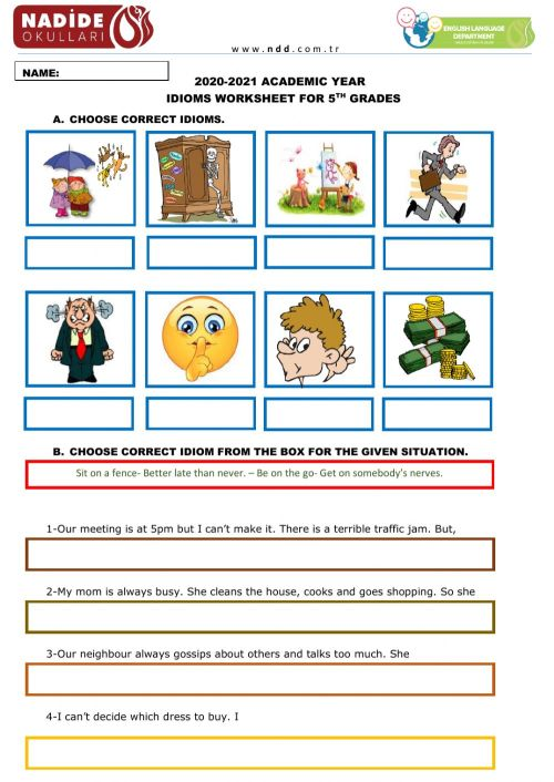 small resolution of 5th Grades Idioms worksheet