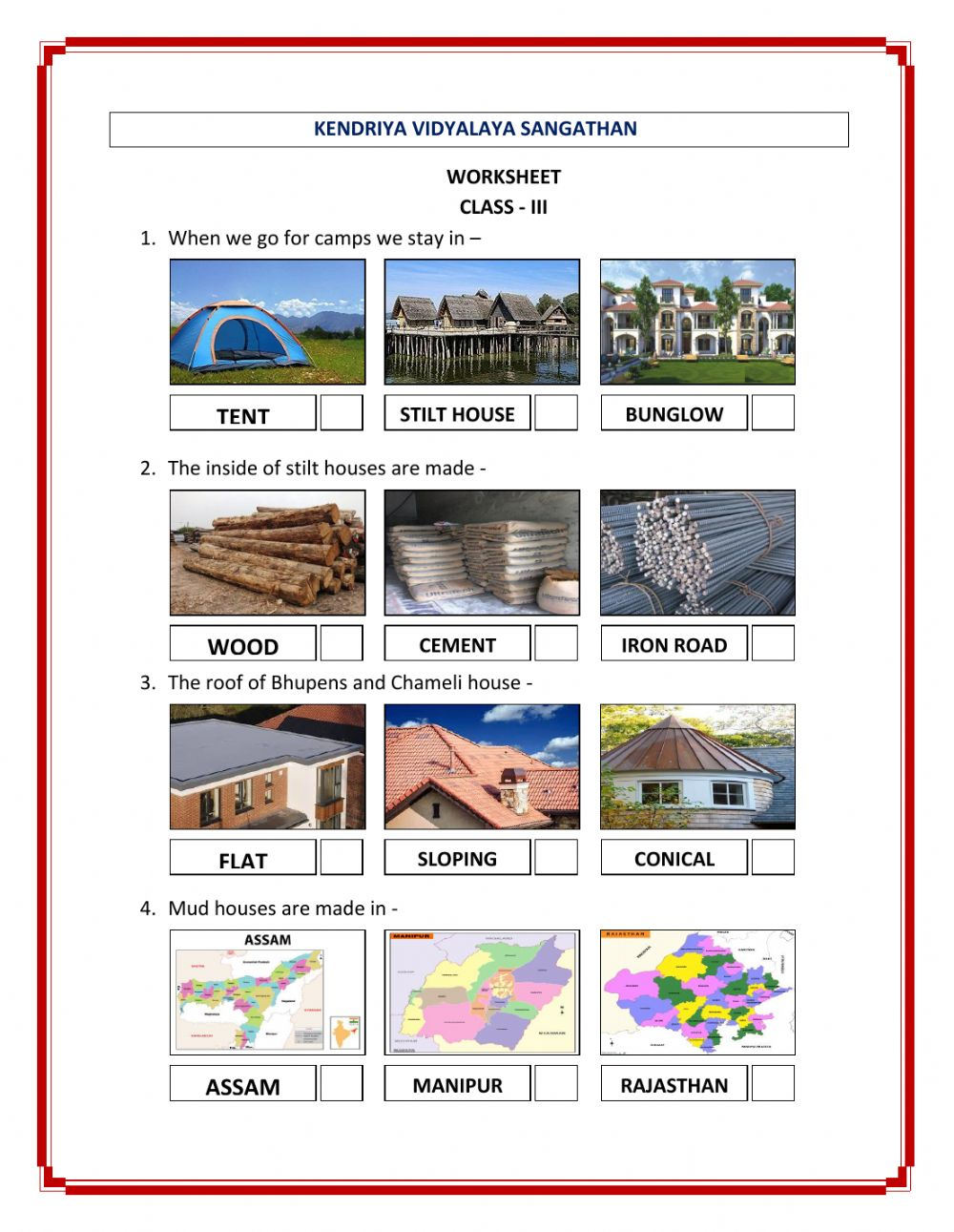 hight resolution of TYPES OF HOUSE - CLASS III worksheet