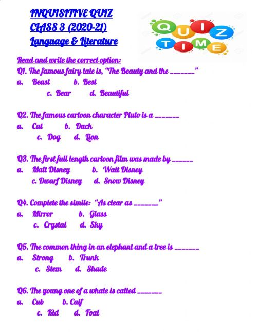 small resolution of General Knowledge 1 worksheet
