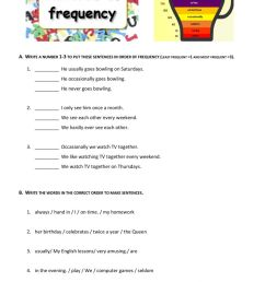 Adverbs of frequency online exercise for 7th grade [ 1413 x 1000 Pixel ]