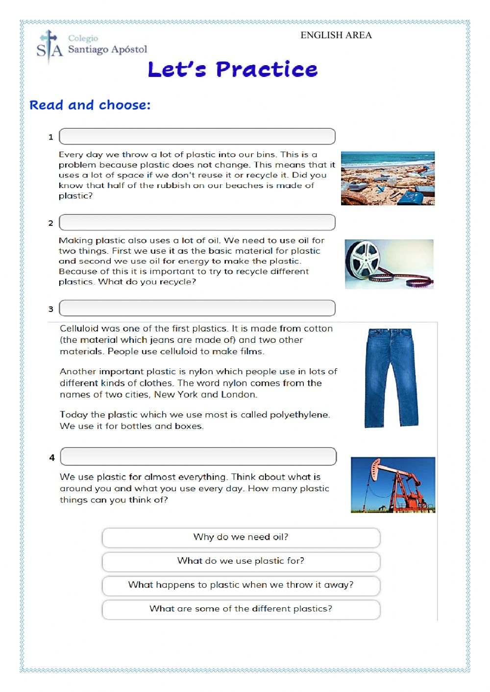 hight resolution of Reading Comprehension online exercise for Grade 5