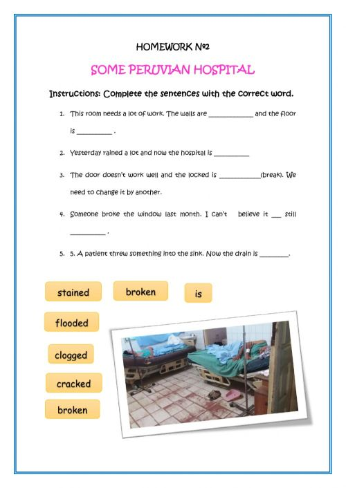 small resolution of Past participle as an adjective worksheet