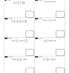 Adding and Subtracting Rational Numbers using properties worksheet [ 1291 x 1000 Pixel ]