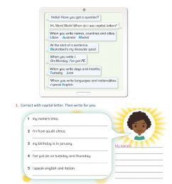 Capital letters online activity for 4th grade [ 1413 x 1000 Pixel ]