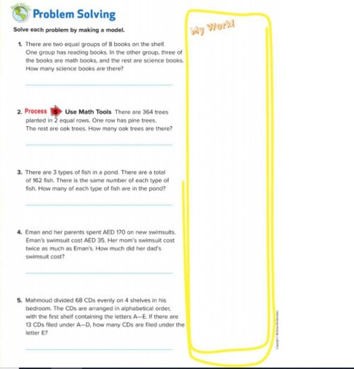 small resolution of Lesson 4 Problem-Solving Investigation: Make a Model worksheet