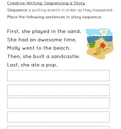 Sequencing a Story Worksheet 2 worksheet [ 1291 x 1000 Pixel ]