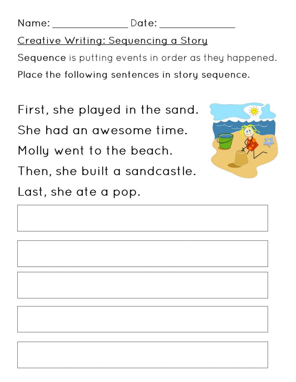 medium resolution of Sequencing a Story Worksheet 2 worksheet