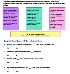 Coordinating Conjunctions- by Grammagical Time! worksheet [ 1287 x 1000 Pixel ]