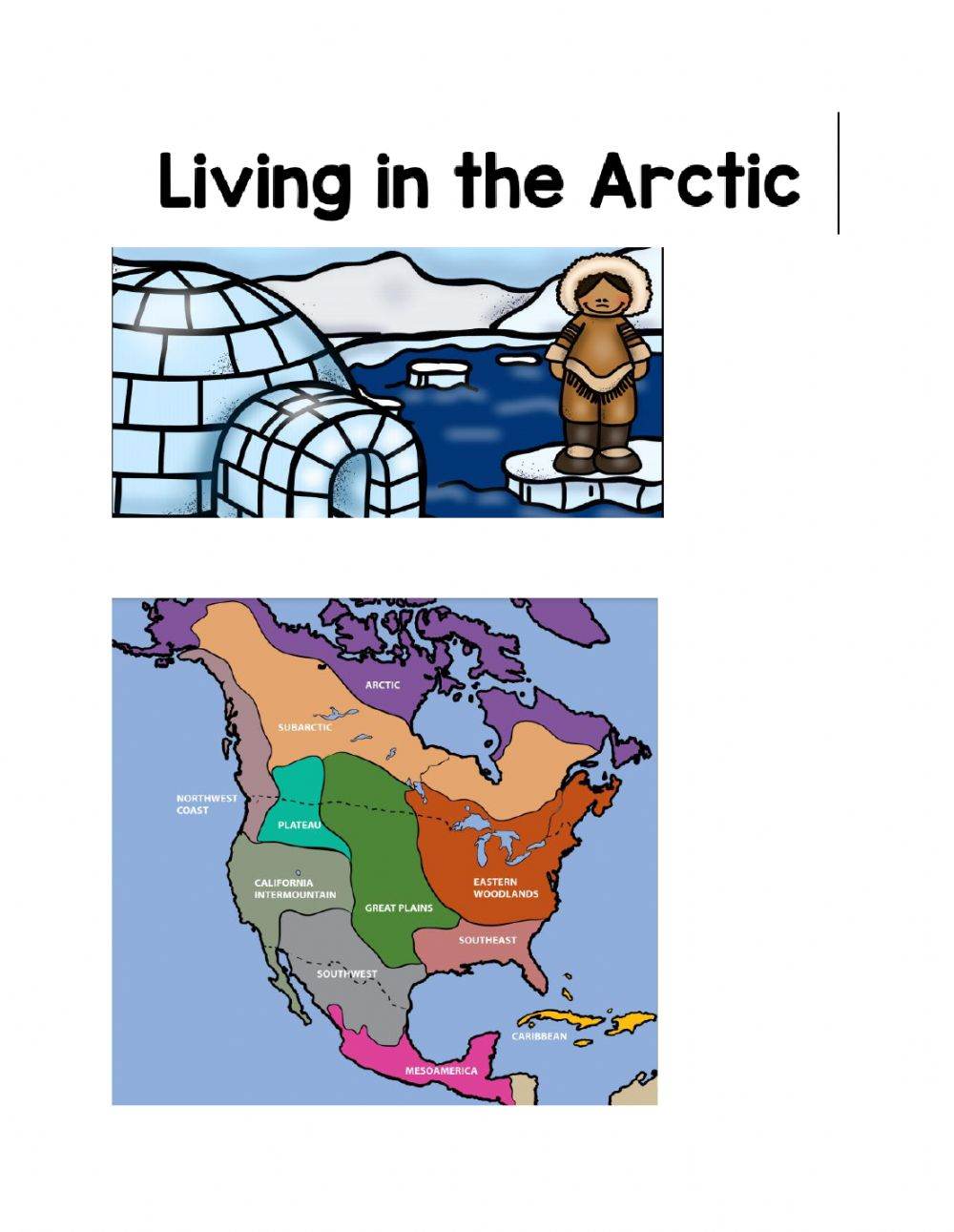 hight resolution of Livng in the arctic worksheet