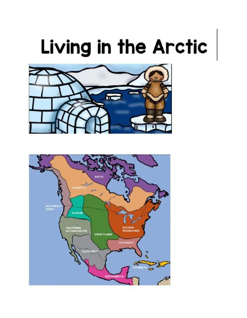 small resolution of Livng in the arctic worksheet