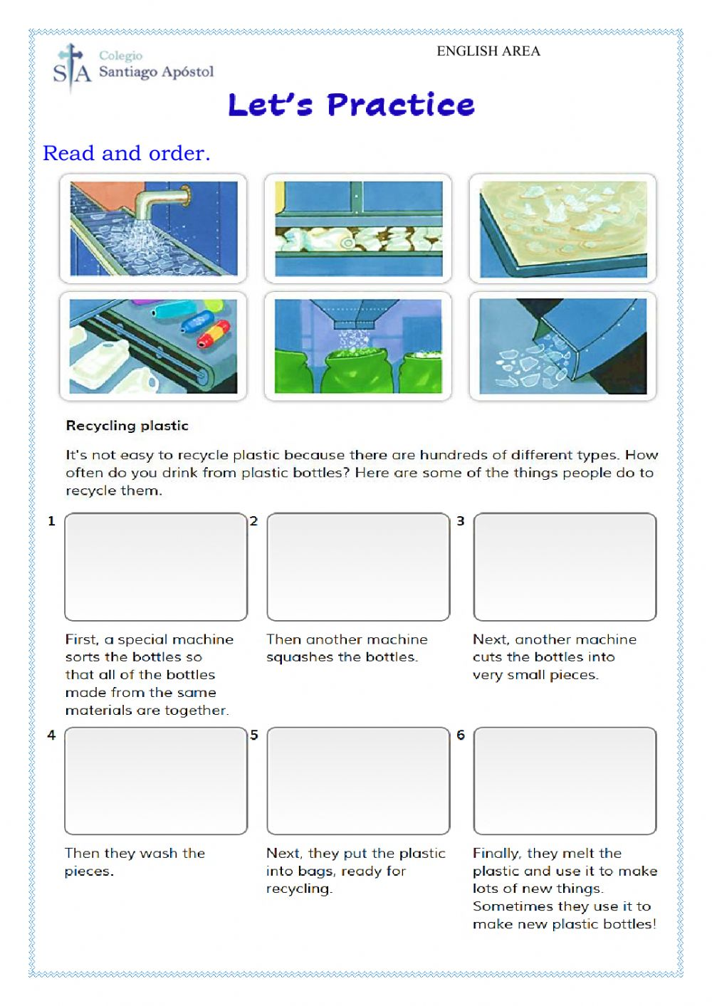 hight resolution of Recycling Plastic worksheet