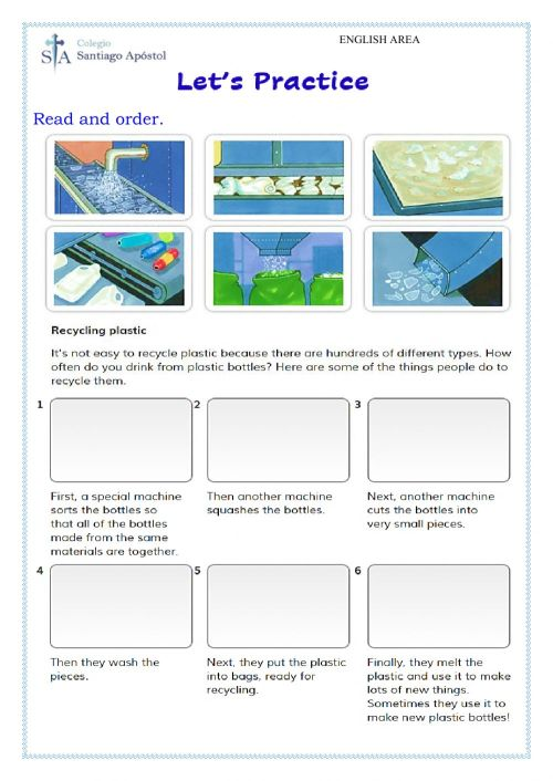 small resolution of Recycling Plastic worksheet