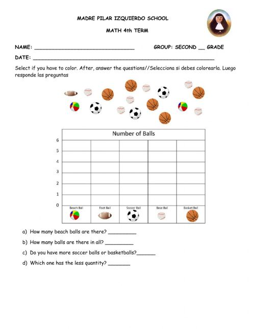 small resolution of Evaluation 4th term second grade Geo worksheet