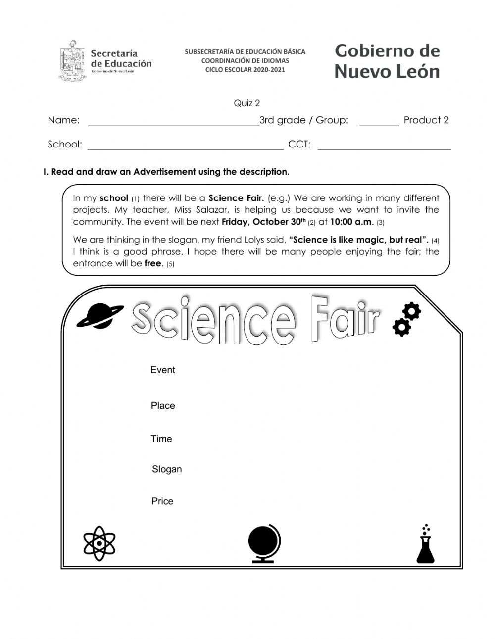 hight resolution of 3rd grade Product 2 worksheet