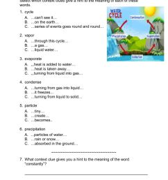 Context Clues Listening Comprehension worksheet [ 1291 x 1000 Pixel ]