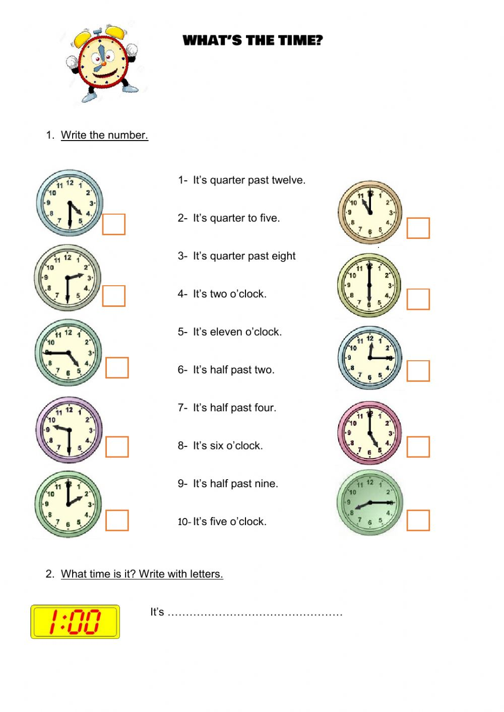 hight resolution of The time worksheet for 4th grade