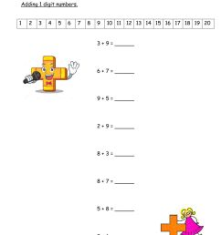 Addition worksheet for Grade 3 [ 1413 x 1000 Pixel ]