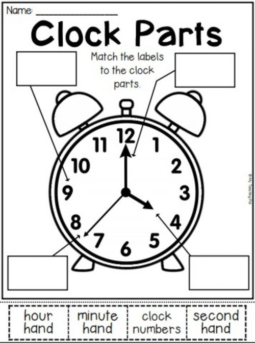 small resolution of Clock Parts worksheet