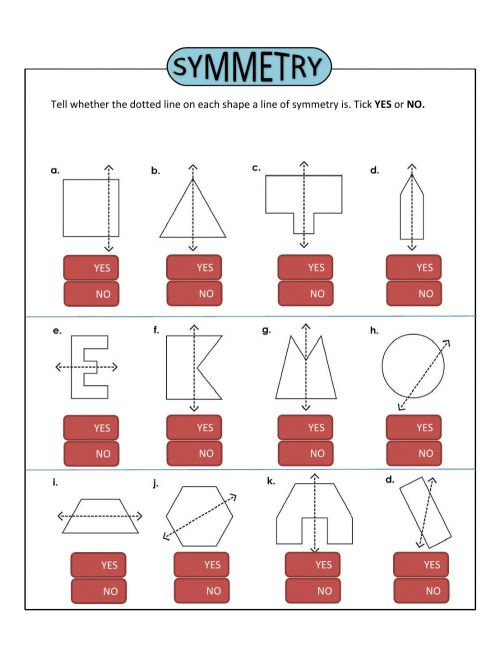 small resolution of Symmetry worksheet for Grade 3
