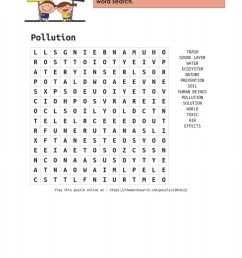 2T-8th-Pollution-Word search 3 worksheet [ 1294 x 1000 Pixel ]