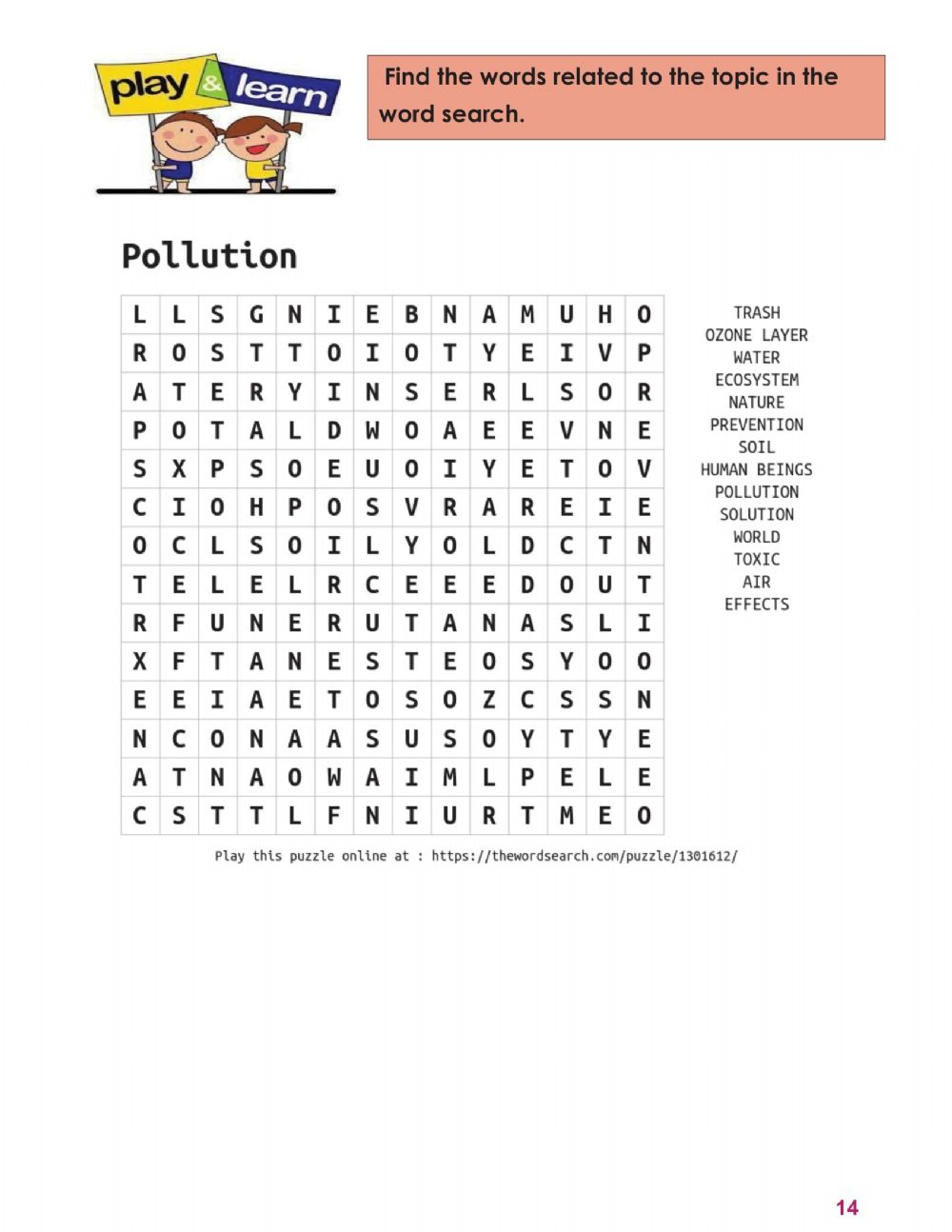 hight resolution of 2T-8th-Pollution-Word search 3 worksheet