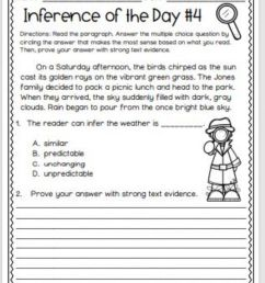 Inference with Text Evidence worksheet [ 1269 x 1000 Pixel ]