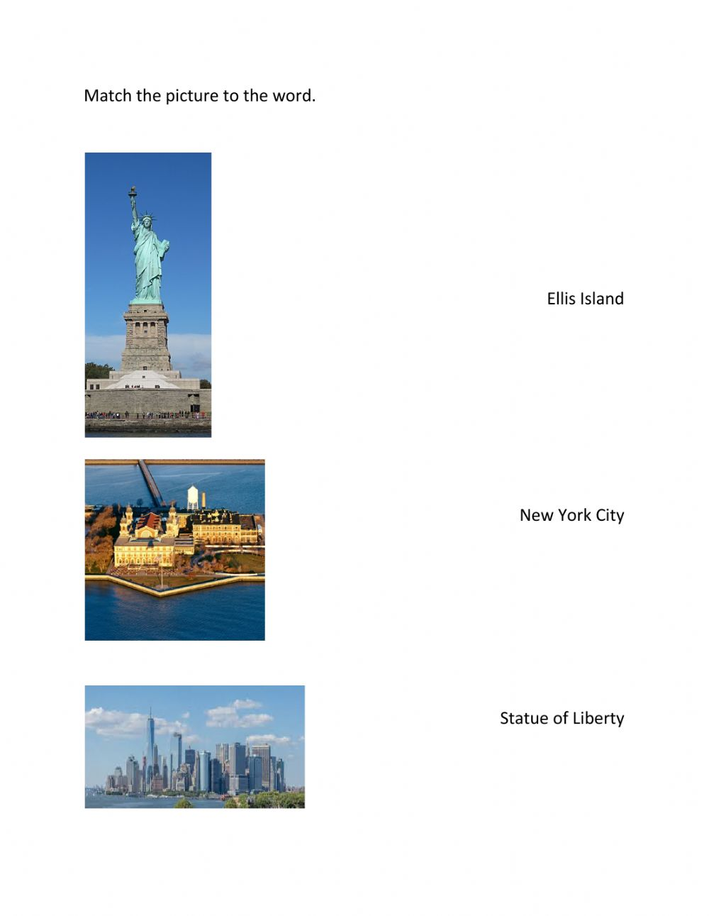 hight resolution of NYS: Immigration Vocabulary worksheet