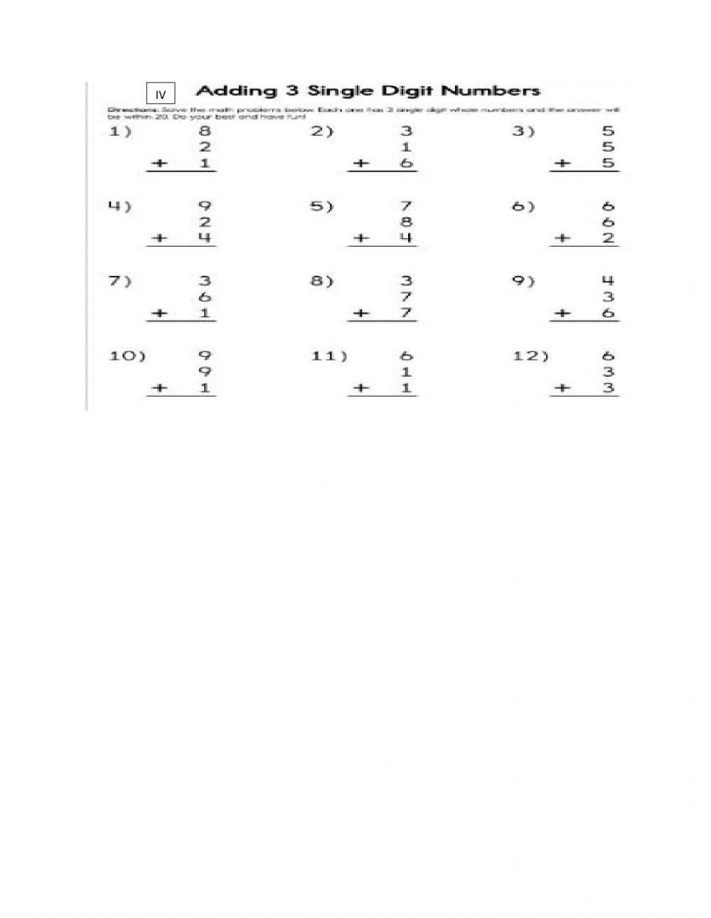 hight resolution of Addition online exercise for 2nd grade