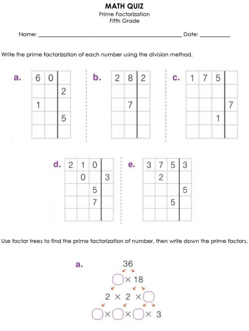 small resolution of Prime Factor worksheet