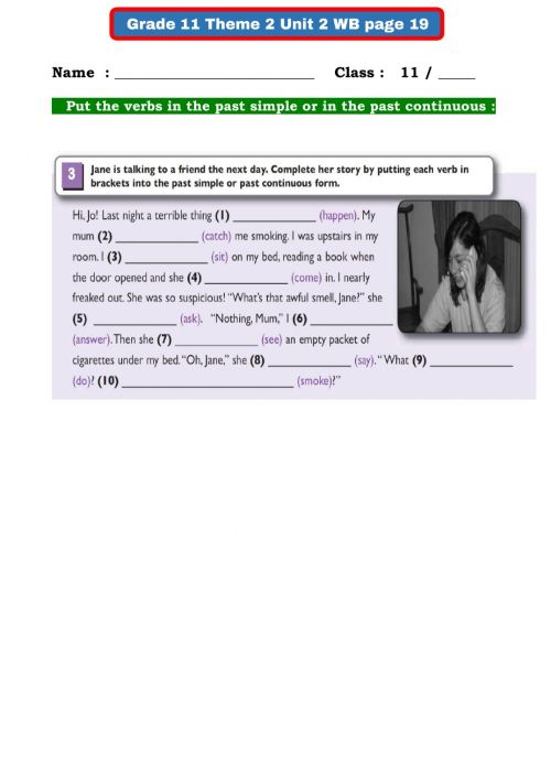small resolution of Grade 11 - Theme 2 Unit 2 interactive worksheet