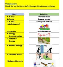 Force-Motion-Energy-Review worksheet [ 1291 x 1000 Pixel ]