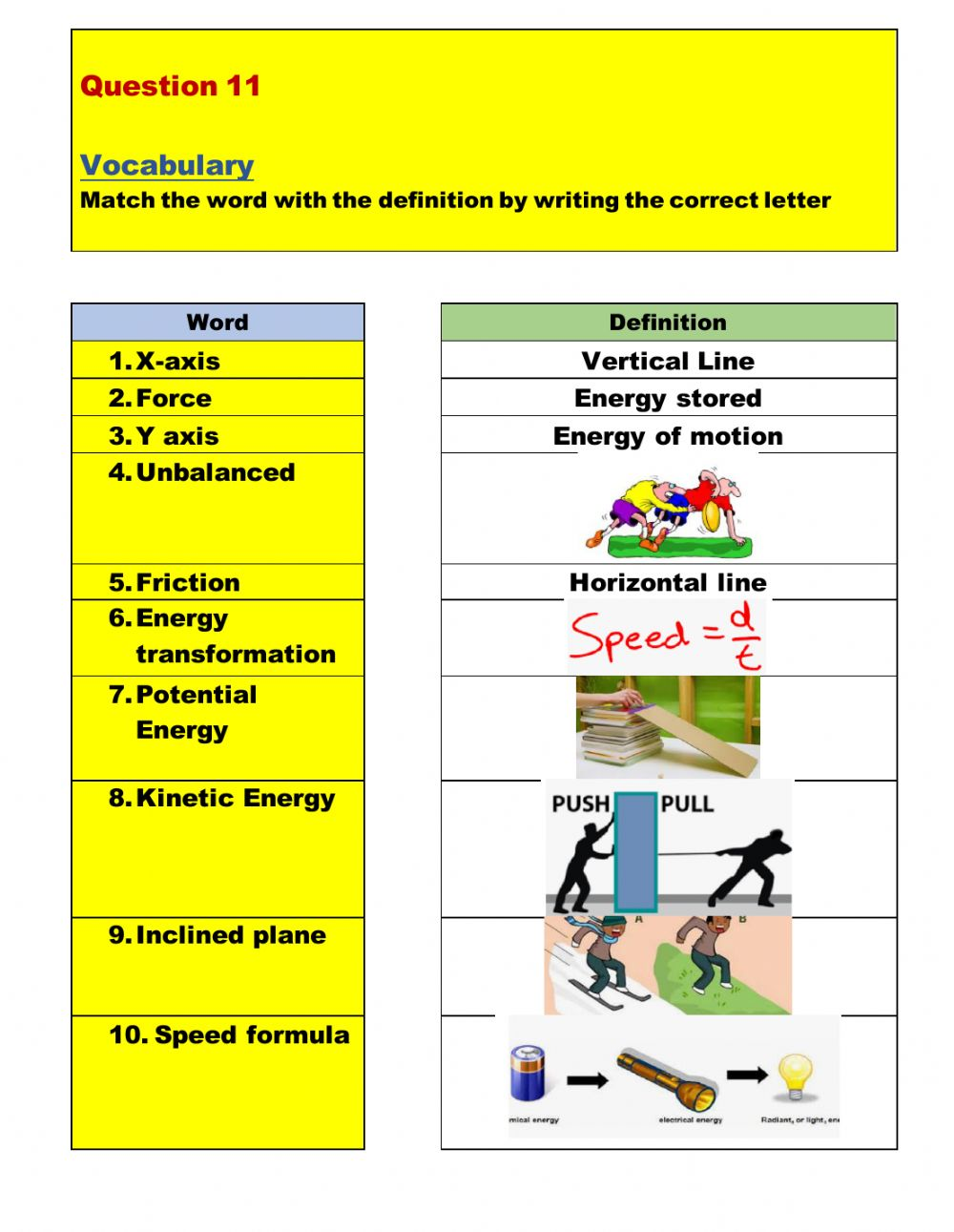 hight resolution of Force-Motion-Energy-Review worksheet