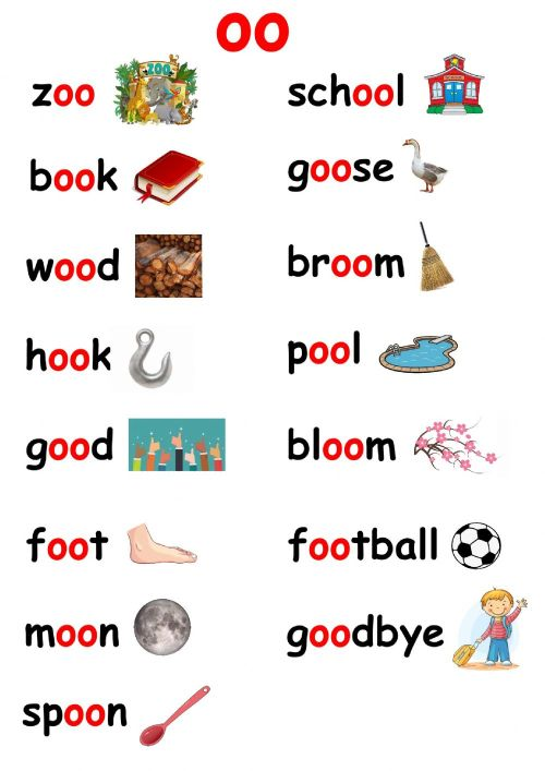 small resolution of Oo words interactive worksheet
