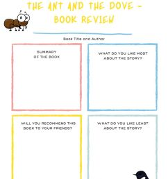 02.12 - Book report! The ant and the dove worksheet [ 1414 x 1000 Pixel ]