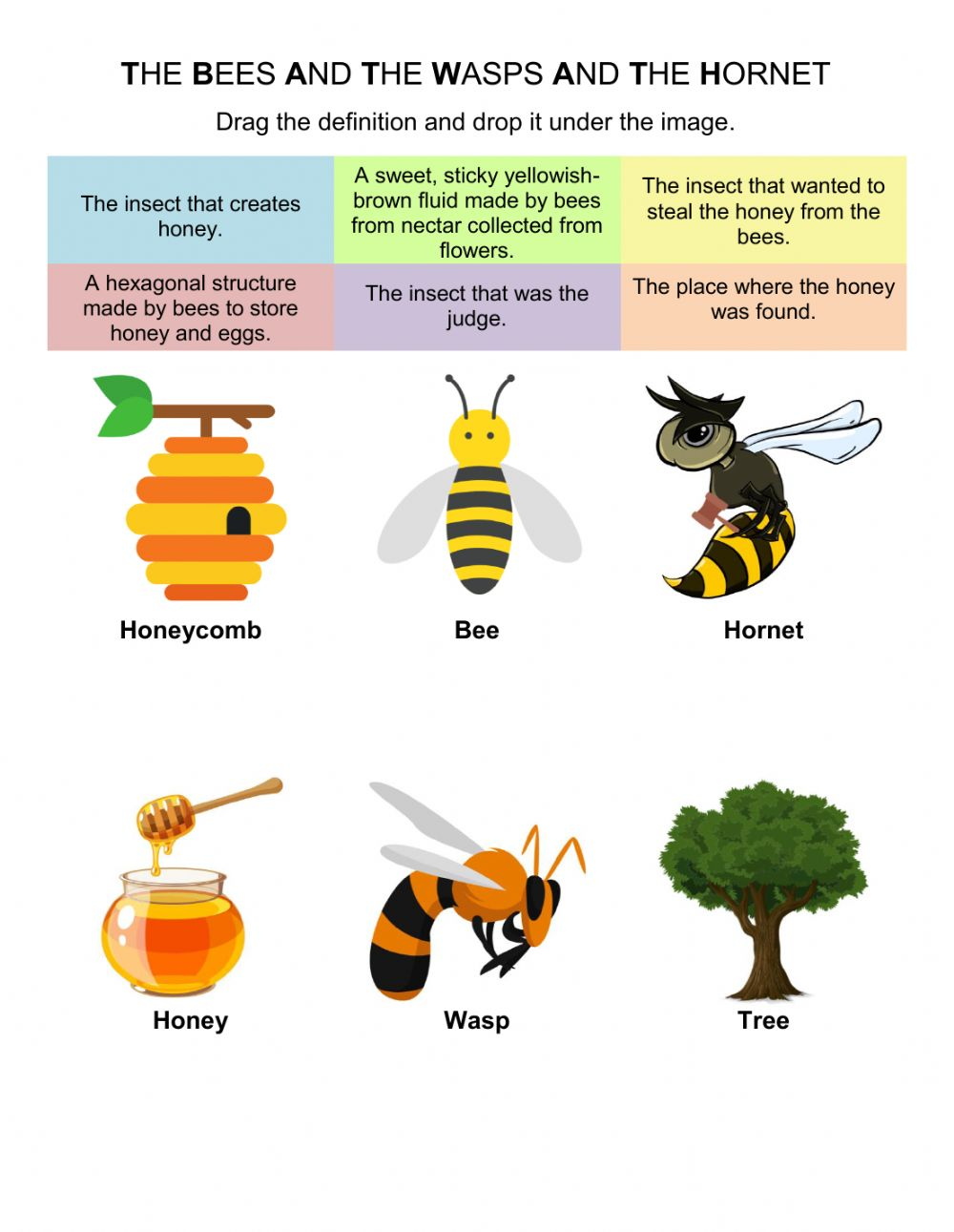 hight resolution of The Bees and The Wasps and The Hornet worksheet