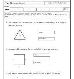 Show me what you know - 2D shapes -second grade- fourth term -2020 worksheet [ 1524 x 1000 Pixel ]