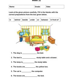 Prepositions online exercise for Grade 2 [ 1414 x 1000 Pixel ]