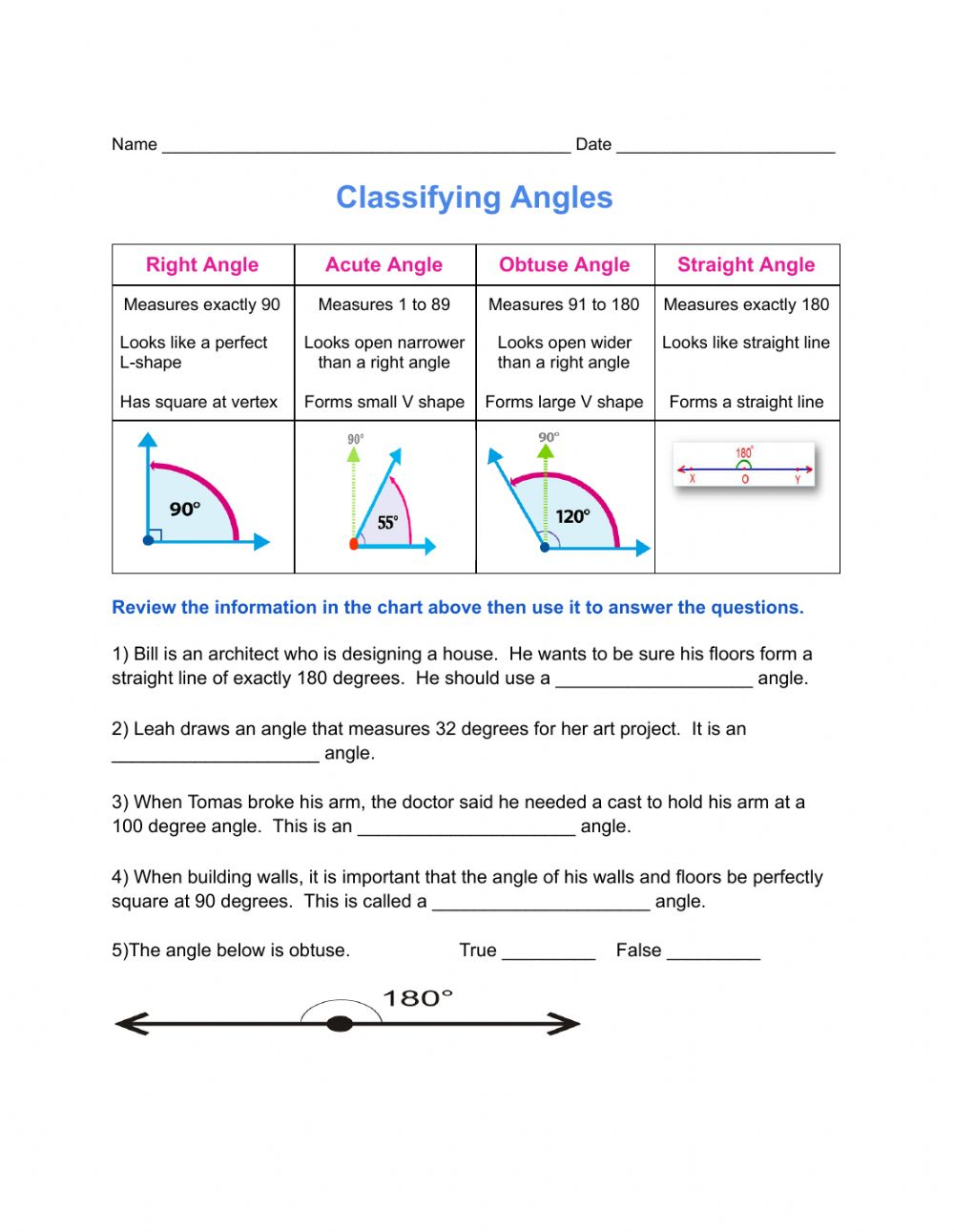 hight resolution of Classifying Angles worksheet
