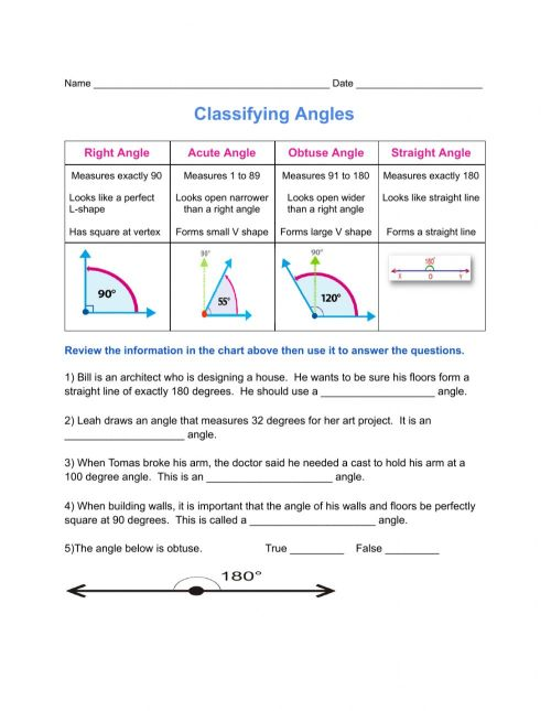 small resolution of Classifying Angles worksheet