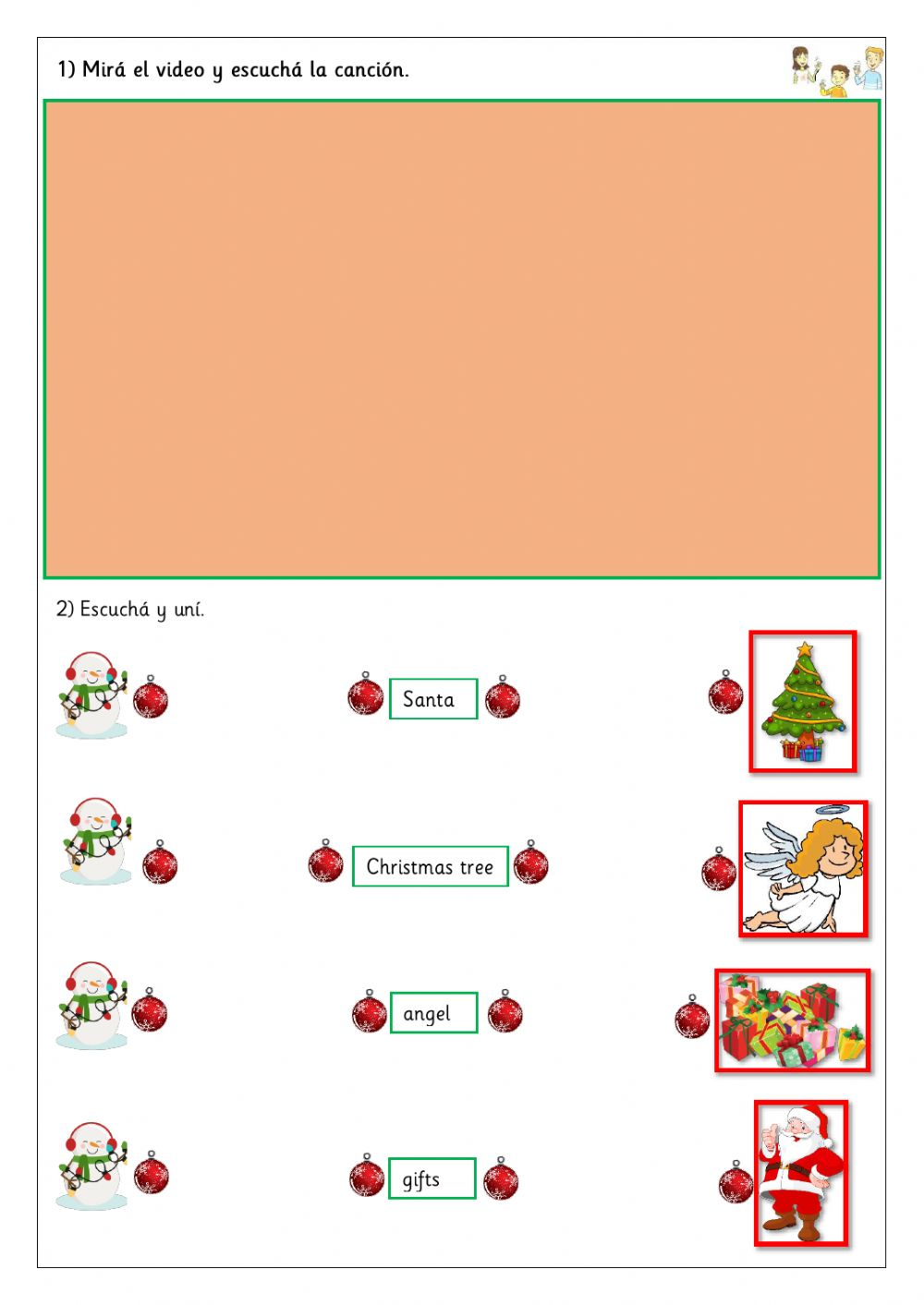 hight resolution of Extra 2nd - Christmas worksheet