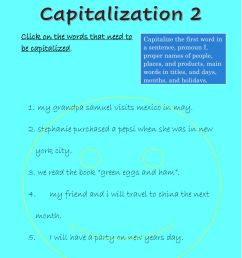 Capitalization online exercise for Grade 3 [ 1291 x 1000 Pixel ]