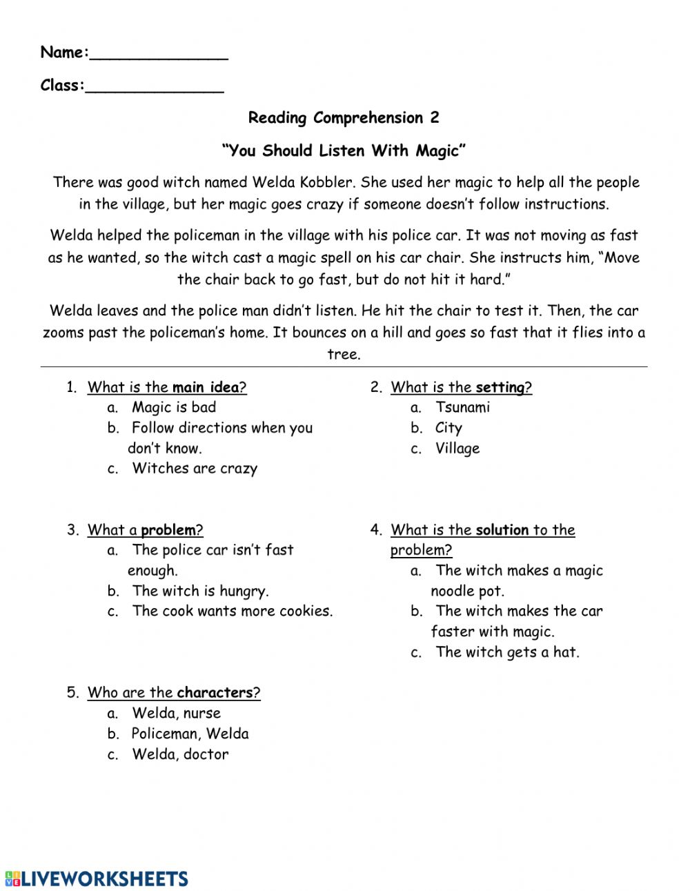 hight resolution of Reading comprehension - Follow directions worksheet