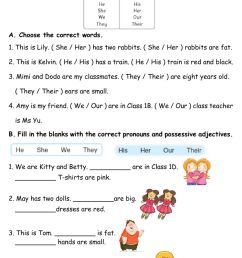 Pronouns and Pronoun Adjectives worksheet [ 1413 x 1000 Pixel ]