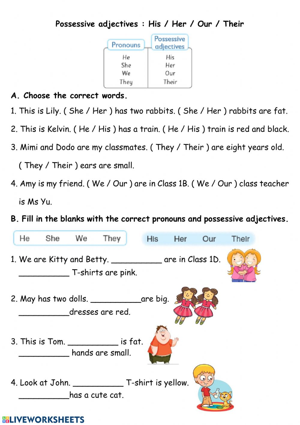 hight resolution of Pronouns and Pronoun Adjectives worksheet