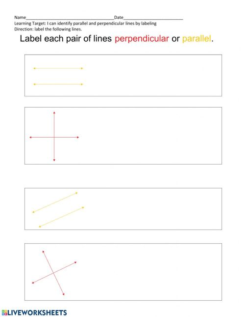 small resolution of Parallel and Perpendicular lines worksheet